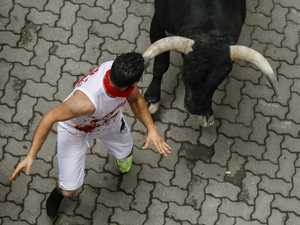Runner horrifically mauled by bull