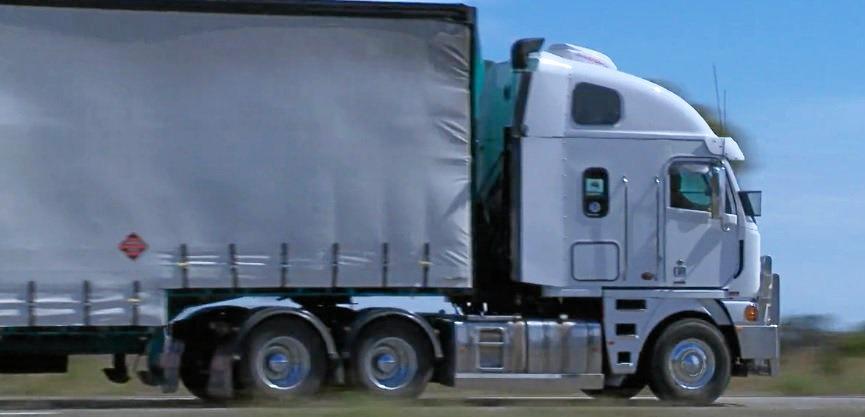 Generic truck, truck, truck on road, truck on highway, highway, semi-trailer