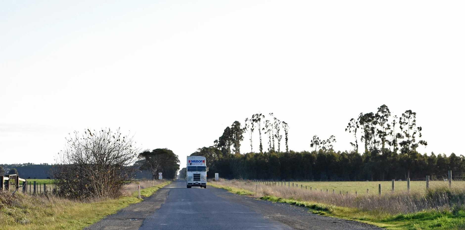 Woolsthorpe/Heywood Road at Bessiebelle in South West Victoria.