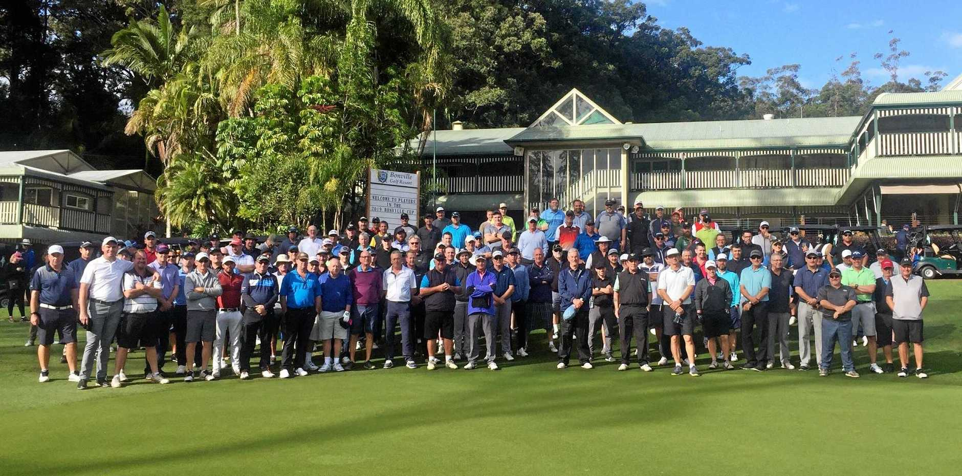 FROM ALL OVER: The 2019 Bonville Cup drew a big field to Bonville Golf Resort over the weekend.