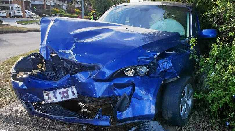 Both vehicles were written off in a crash in which police allege a 20-year-old woman drove dangerously at Eastern Heights on June 6.