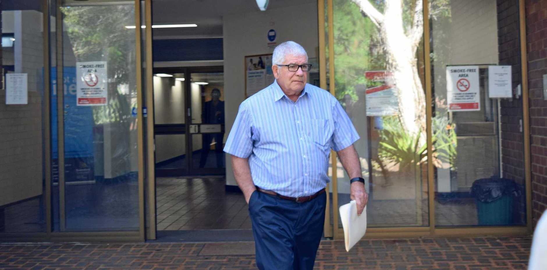 LEAVING COURT: Richard Francis Sinclair pleads guilty to publishing matter defamatory of another living person.