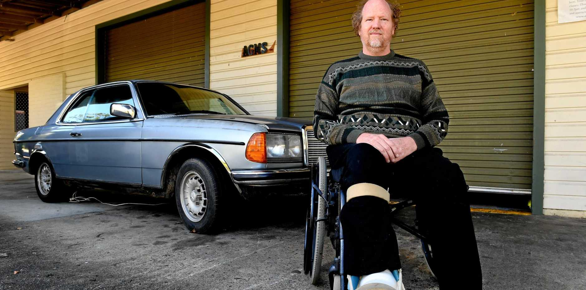 THANKS STRANGER: Ron Berry, of Murwullumbah, was saved by a good samaritan who got him to a hospital after he was involved in a car accident.