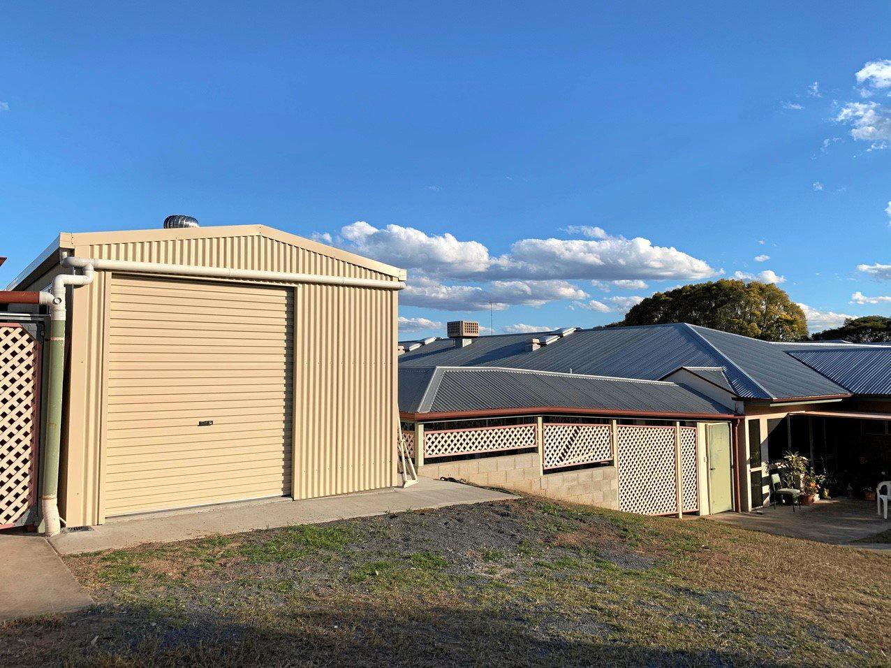 Ridgehaven Retirement Complex's new storage/maintenance shed.