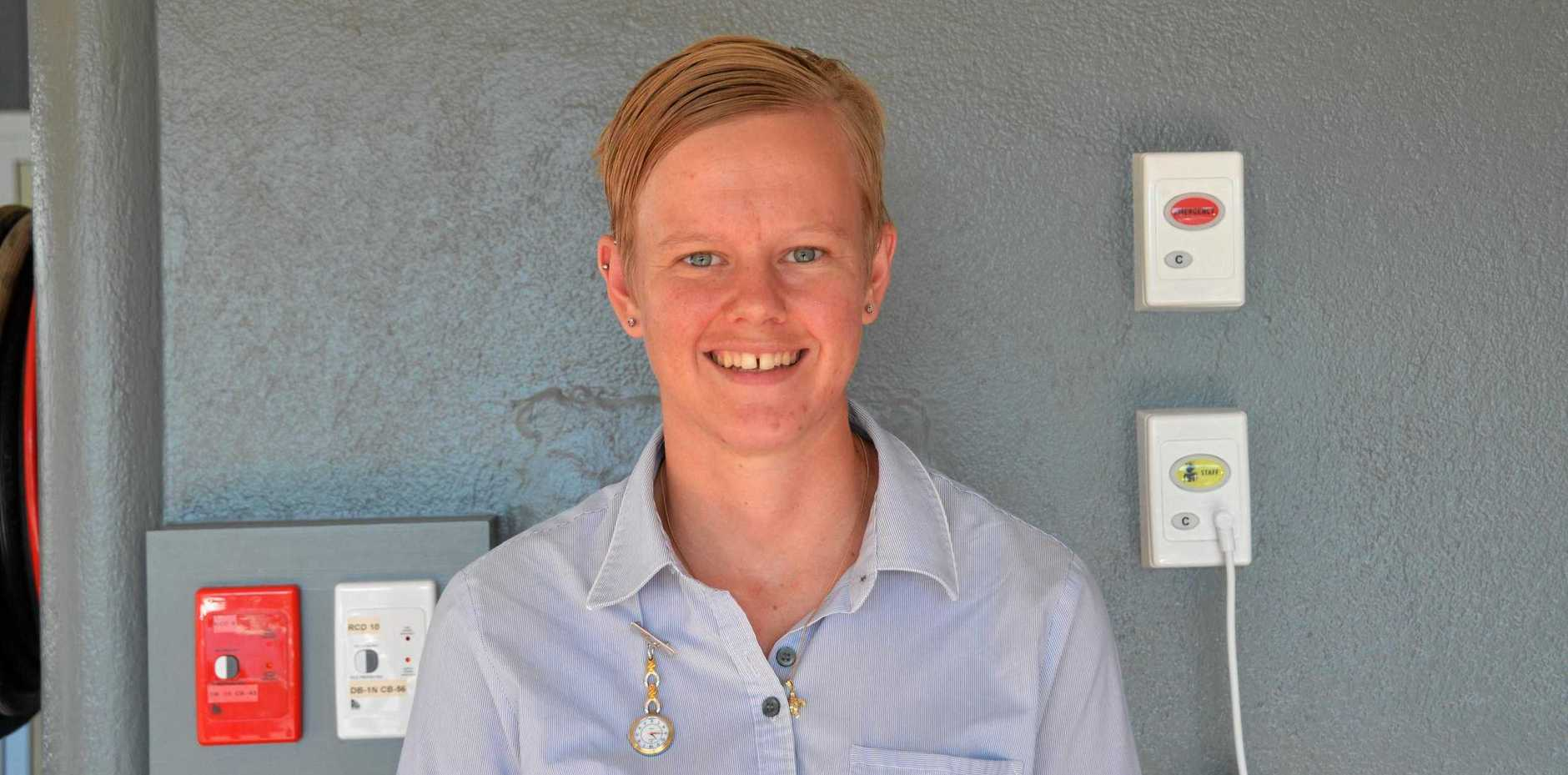 KICKING OFF CAREER: Graduate nurse Ashleigh Hodges is settling into life in Gayndah, where she said she felt warmly welcomed.