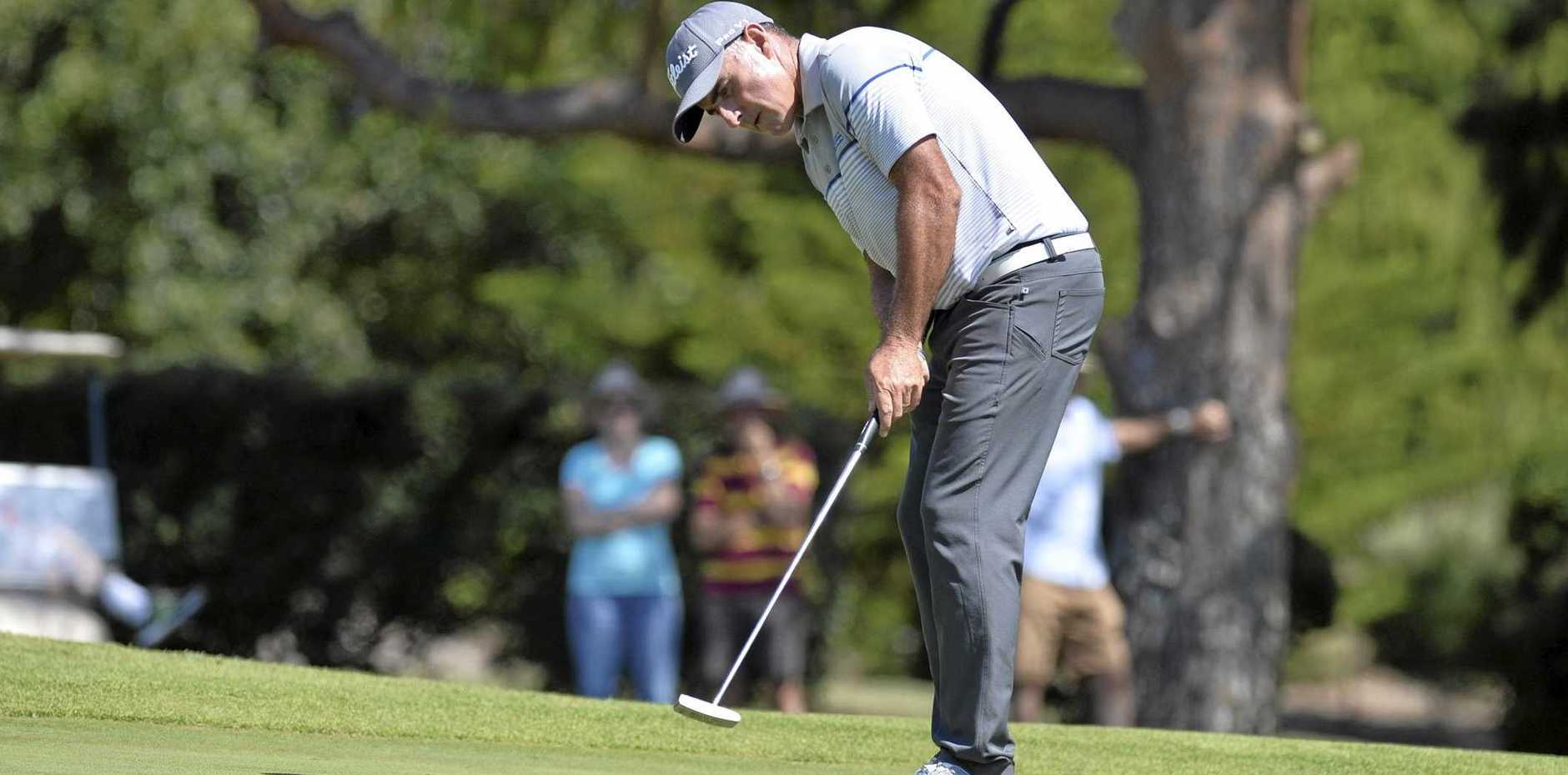 IN FORM: Matthew Millar is shaping as the man to beat in today's PGA Pro-AM Series on the Sunshine Coast.