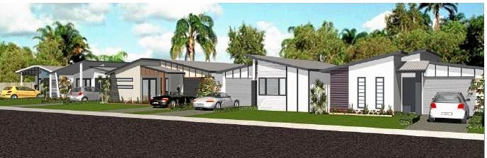 An artist's impression of proposed dwellings at what was once the Kohuna Beachside Resort.