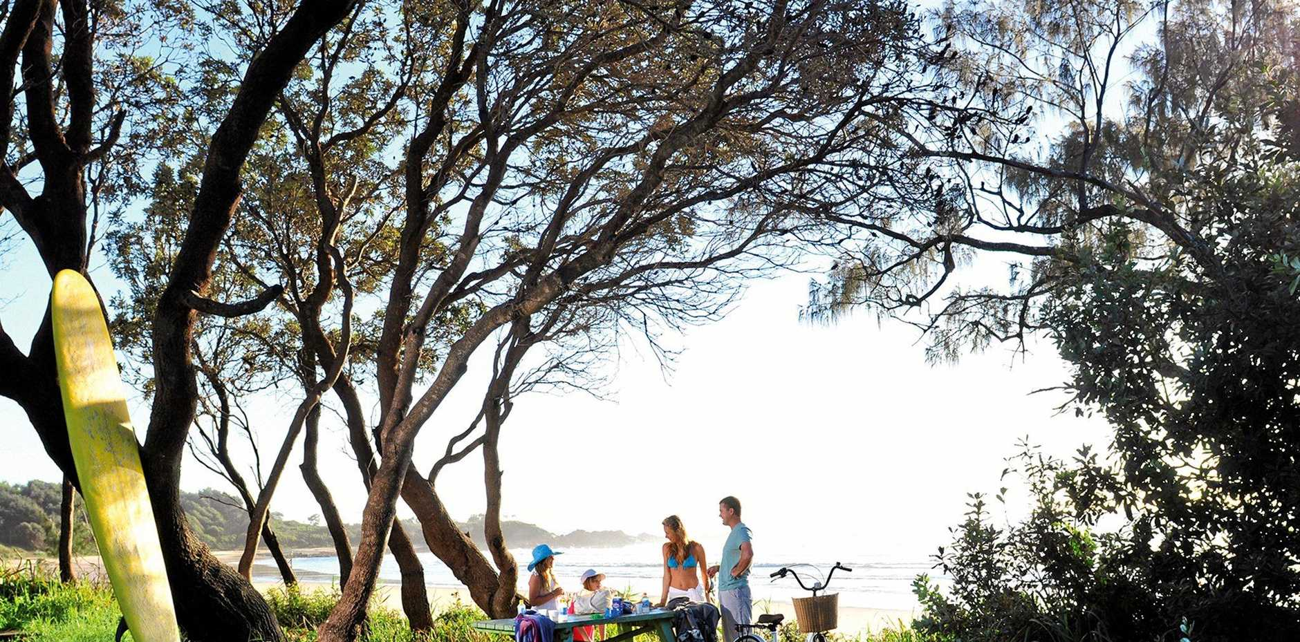 POPULAR DESTINATION: Holiday makers enjoy the family atmosphere at Minnie Water.