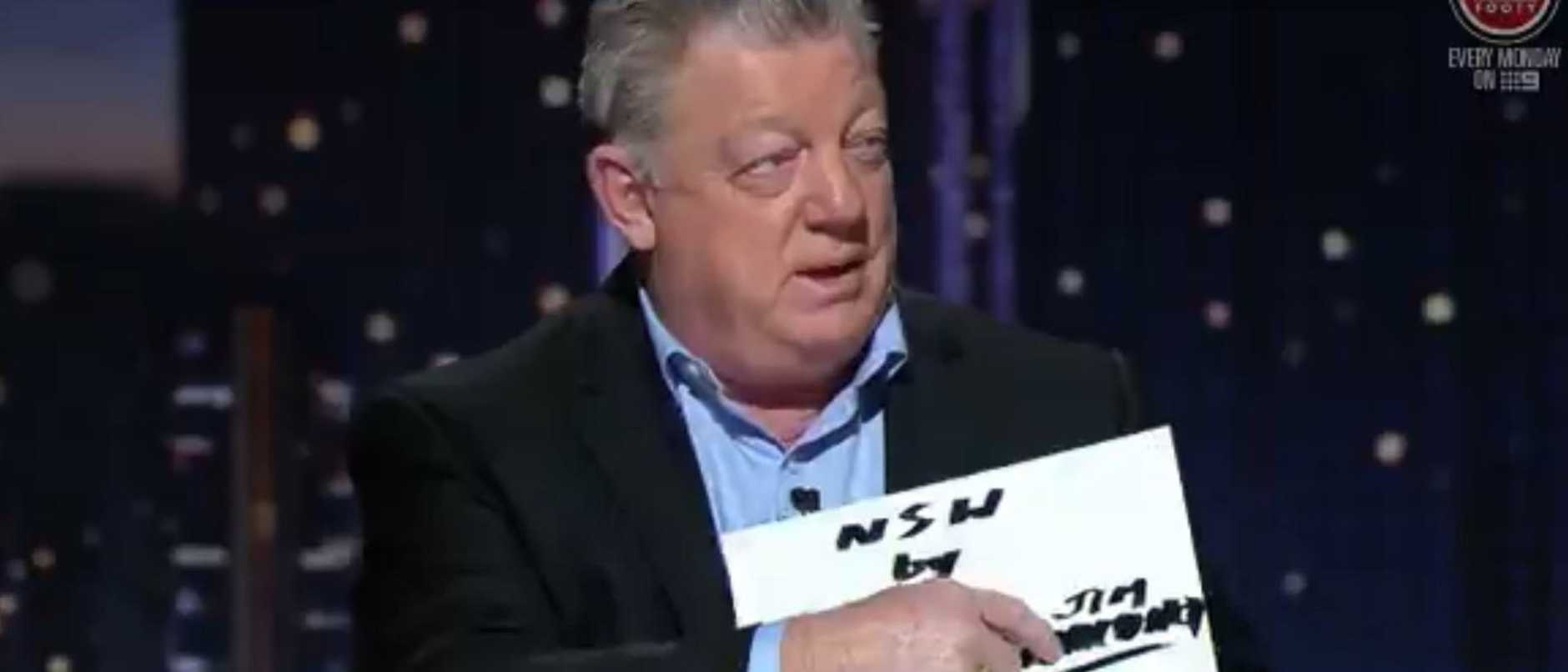 Phil Gould on Channel 9's 100% Footy.