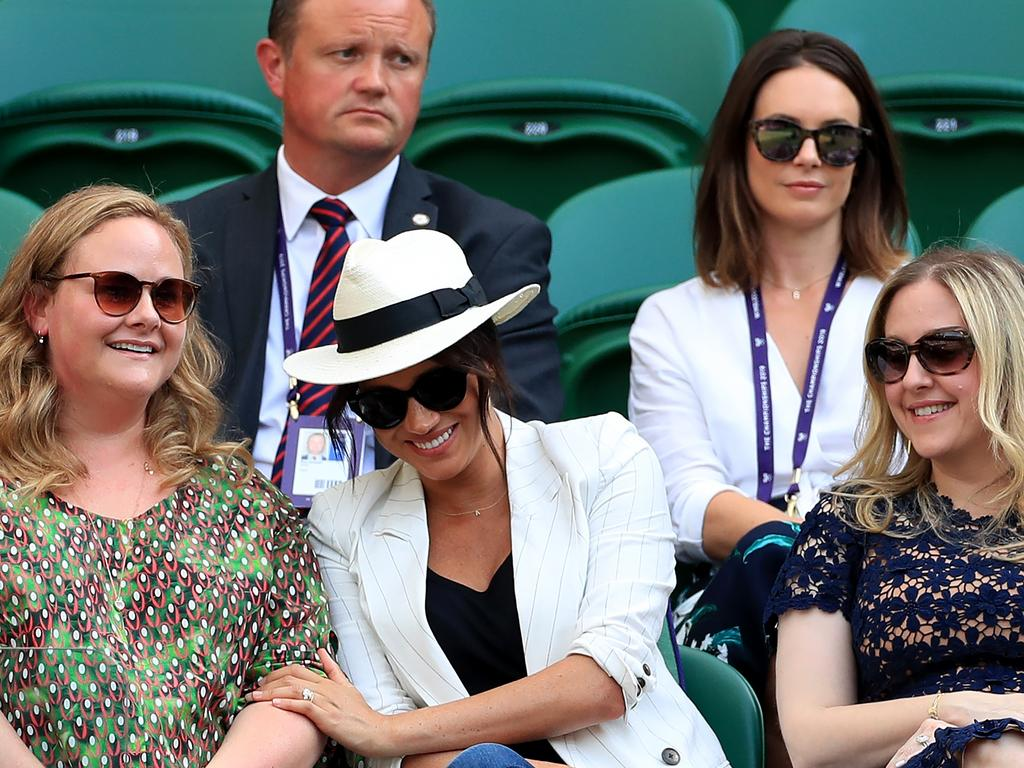 Duchess of Sussex watches Serena Williams at the All England Club. Picture: Mike Egerton/PA Wire.