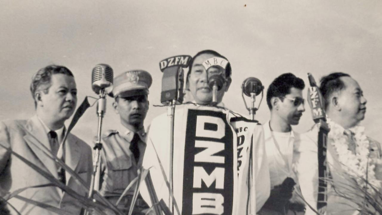 Alan Wayne Gorcey during his time as a radio broadcaster in the Philippines.