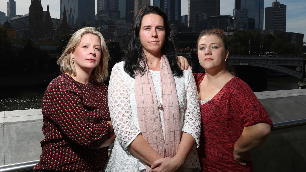 Marijke Rancie (far left) was held legally responsible for comments made by other people on her Facebook page. Picture: Alex Coppel.