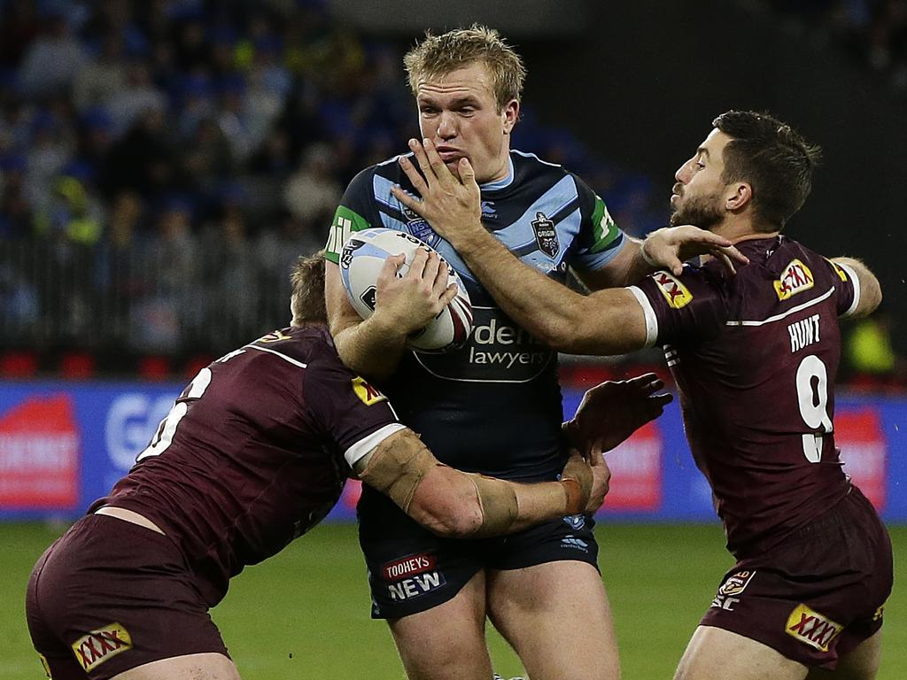 Jake Trbojevic has been strong for the Blues in both games this series. Picture: Will Russell/Getty Images