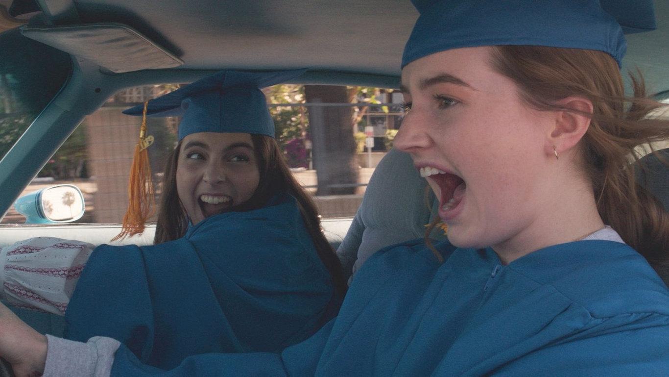 Beanie Feldstein and Kaitlyn Dever star in the comedy Booksmart.