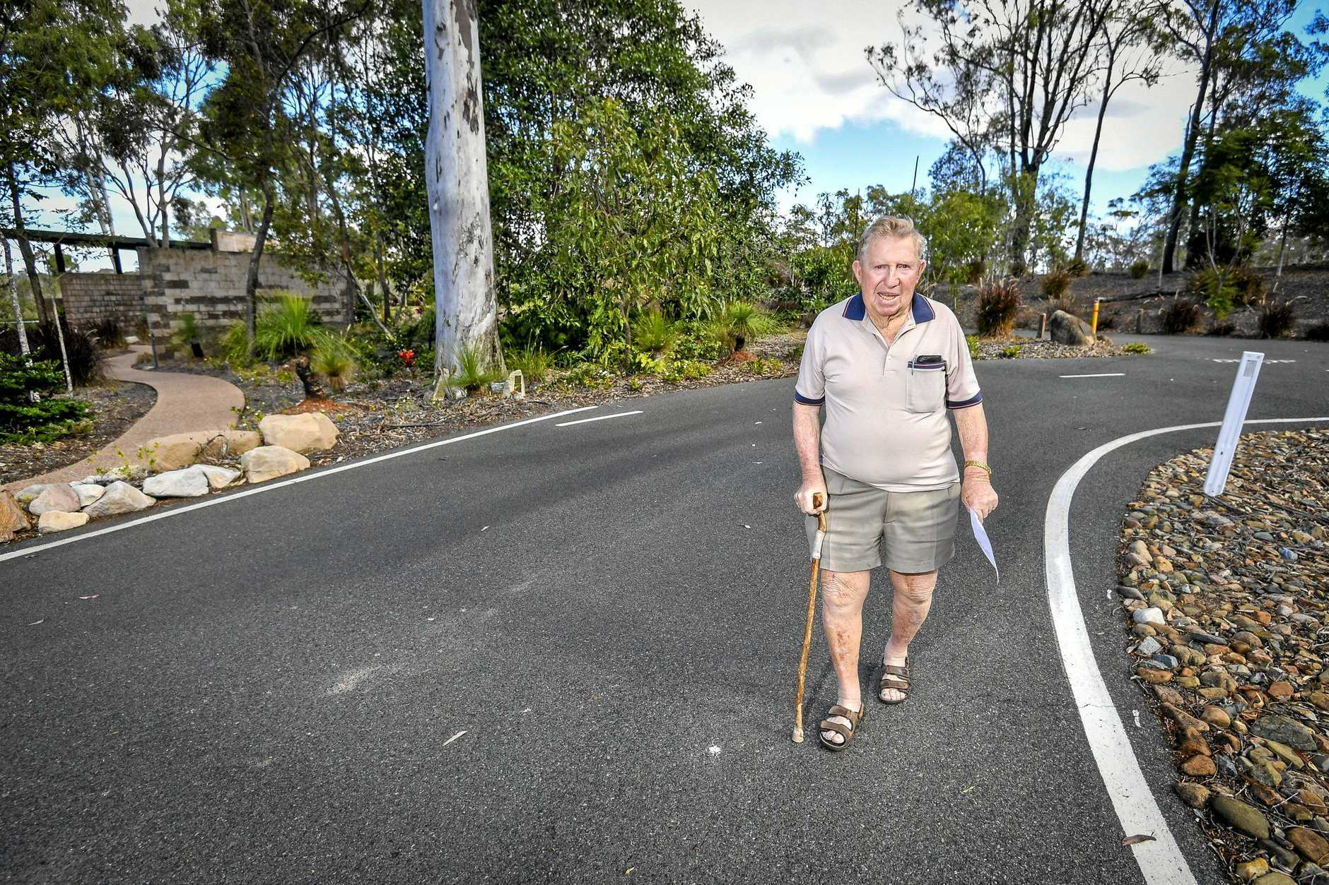 Boyne Island resident Max Ricketts wants Gladstone Regional Council to help implement a plan that will make it easier for elderly and incapacitated reisendts to access the chapel at Boyne Tannum Memorial Parklands Crematorium Chapel, which sits several hundred metres from the nearest carpark.