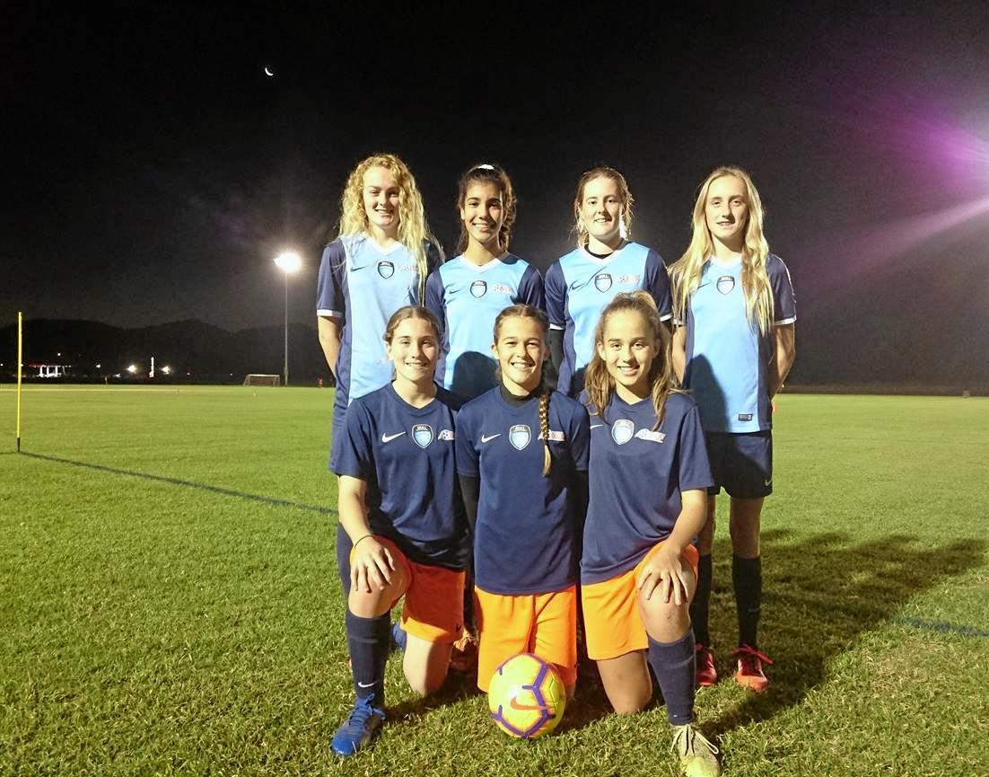 THE GIRLS: These seven North Coast Football players will represent Northern NSW next week at the National Youth Championships in Coffs Harbour.