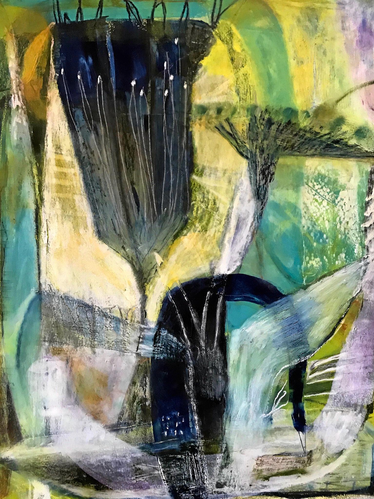 Blue Bird Bending by Bundaberg artist Liz Lennox.