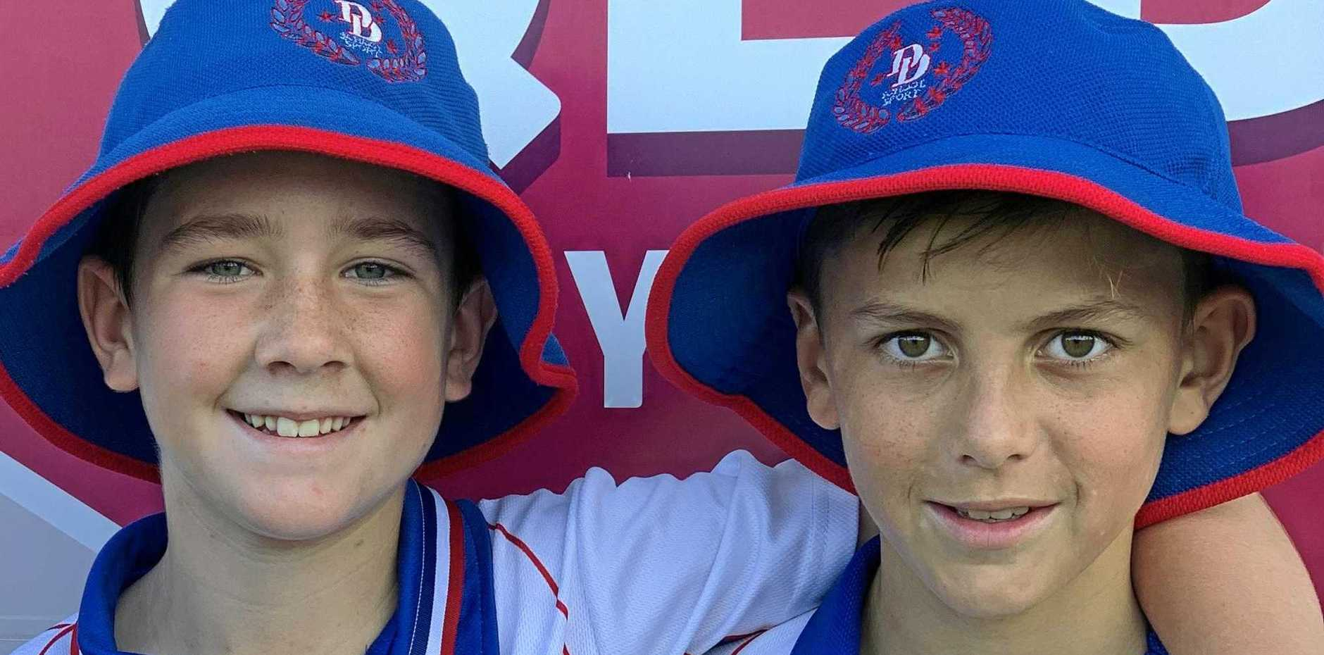 CLASS PLAYERS: Ryan Bohm and Eli Costello performed well for Darling Downs in the Queensland under-12  schoolboys state championships at Carina Leagues Club.