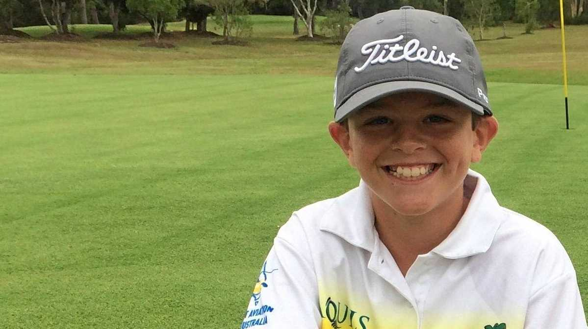 HOTSHOT: 13-year-old Lewis Shaughnessy shot at ace at Maroochy River recently.
