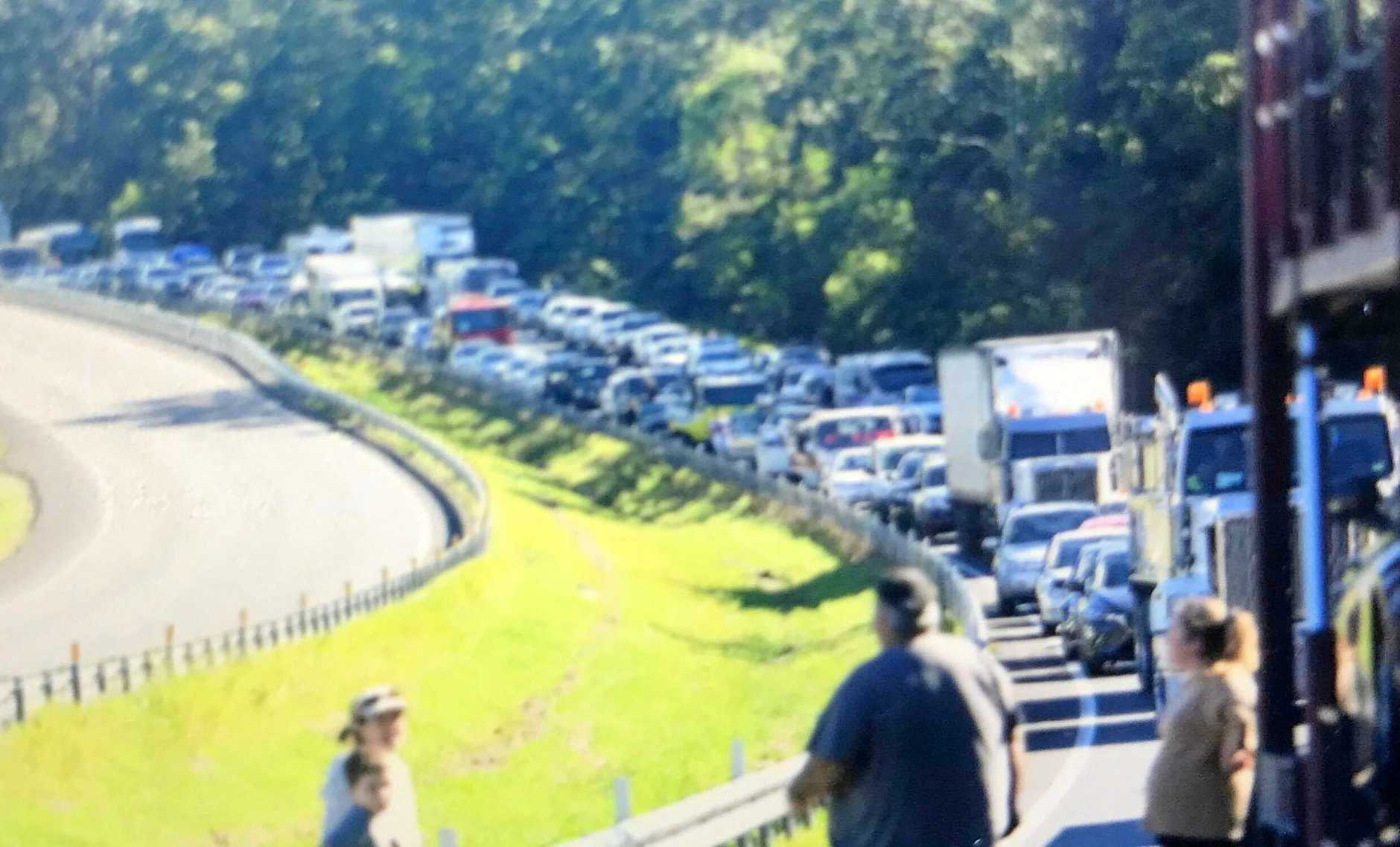 The aftermath of a high speed chase on the Bruce Highway.