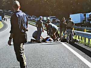 Bruce Hwy car chase suspect in critical condition
