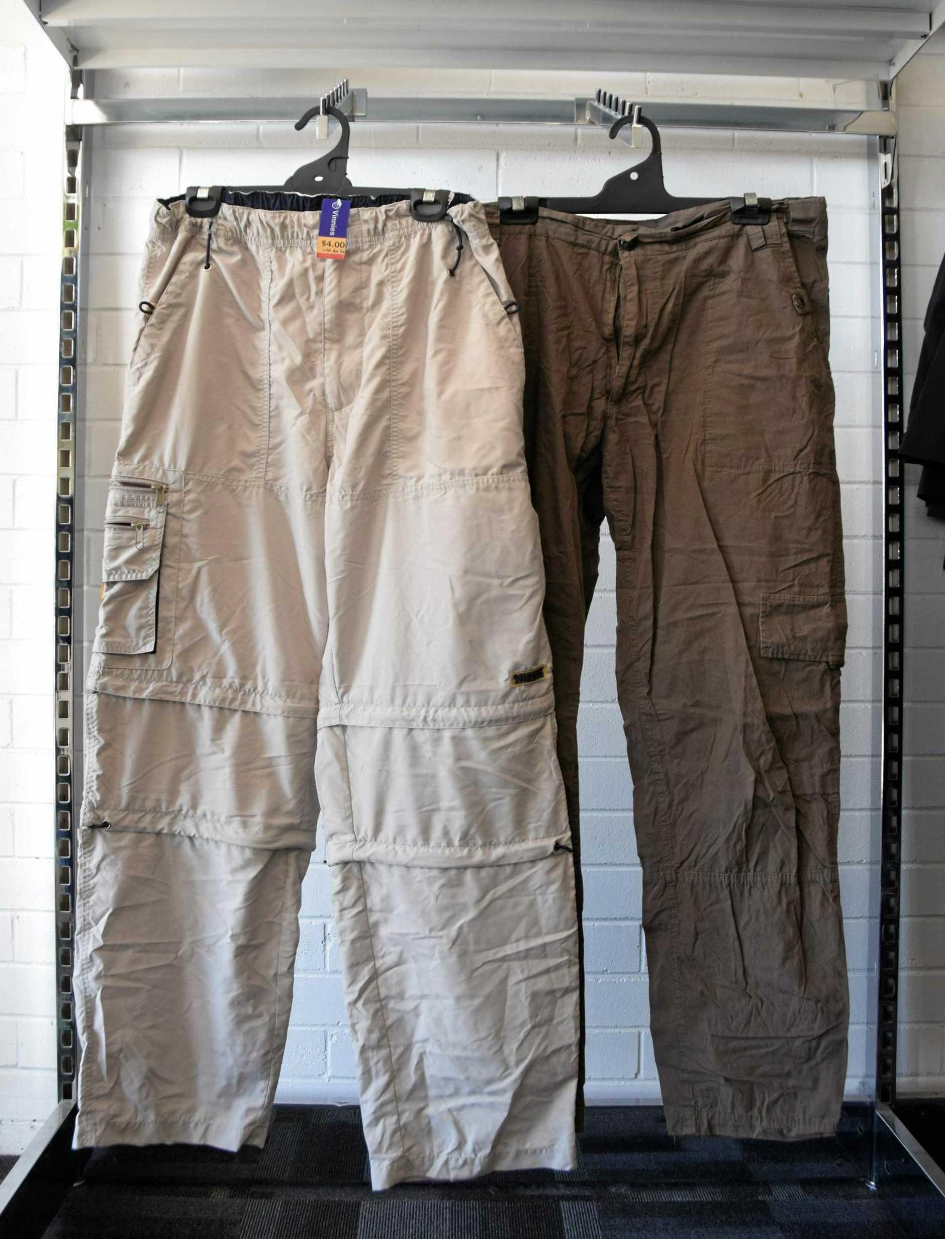 Vinnies men's pants. LEFT size 82 $4. RIGHT size 97 $4.