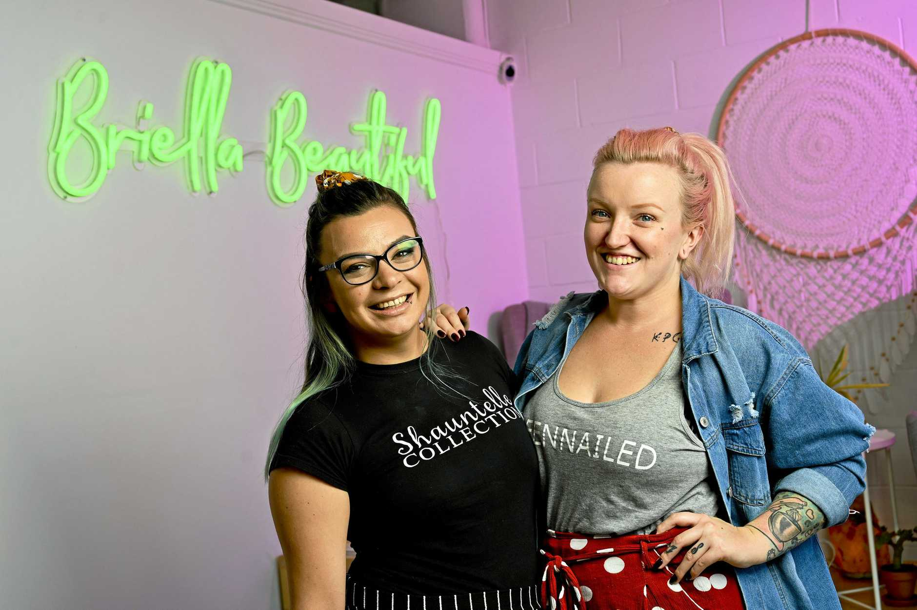 Briella Beautiful Nails Beauty is reopening in Eastern Heights. Natasha Ball and Sarah Landy