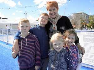 Kids enjoy a day on the ice with their Toowoomba granny