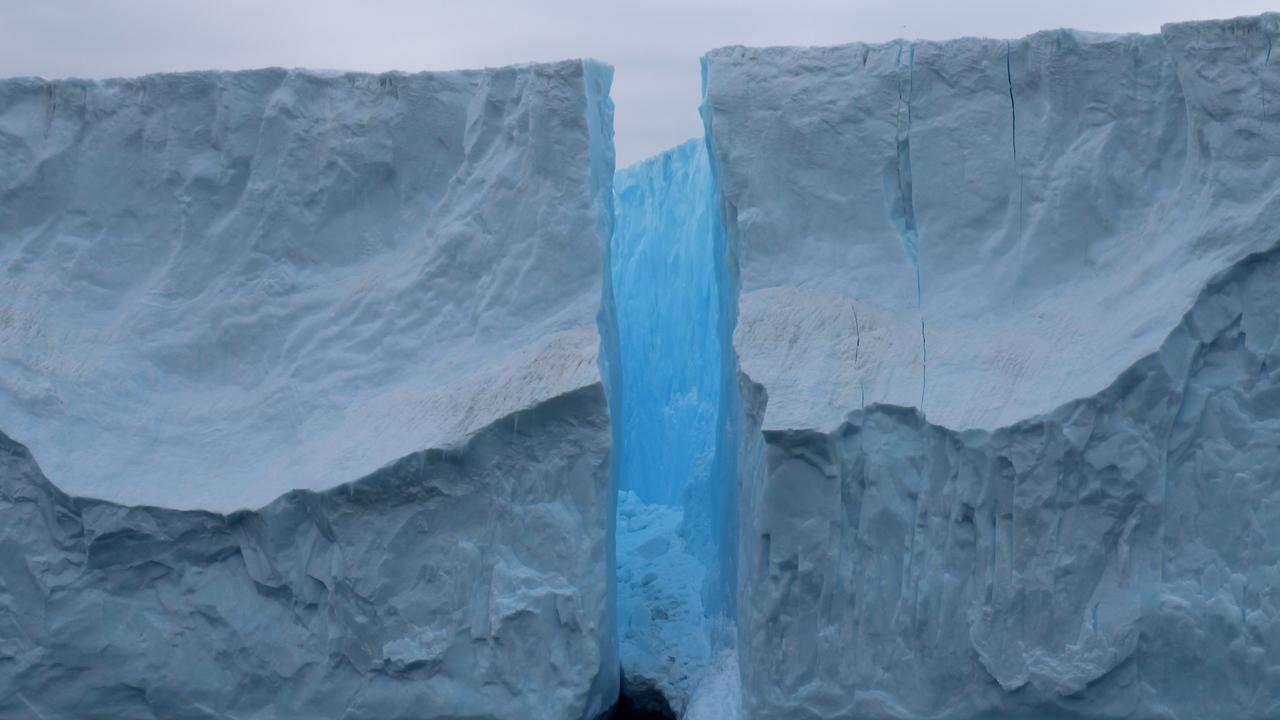 The Sorsdal Glacier showing a large crack where the Antarctic feature calved earlier this year. Picture: David Gwyther