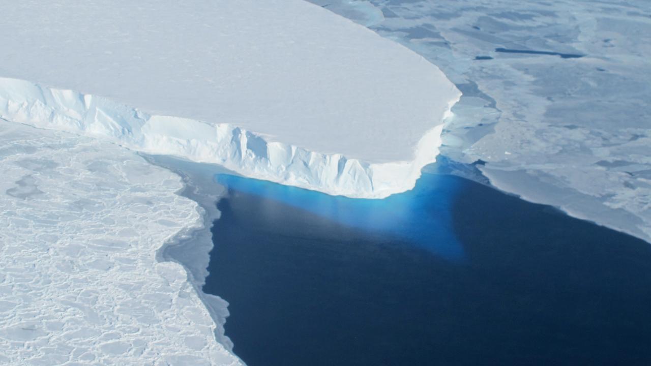 The Thwaites glacier is sitiated in Antarctica. Picture: NASA.