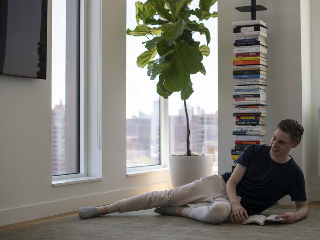 Ben Pasternak's minimilast New York City apartment on the famed Delancey Street is a step up from his previous accommodations. Picture: Wentworth Courier