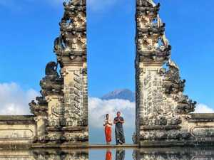 Photo lie angers Bali tourists