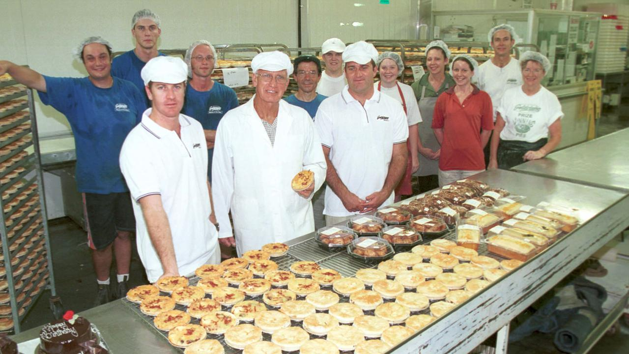 Joshua, Frank and Martin Goldstein from Goldsteins Bakery celebrating 60 years in 2004. Photo: David/Clark