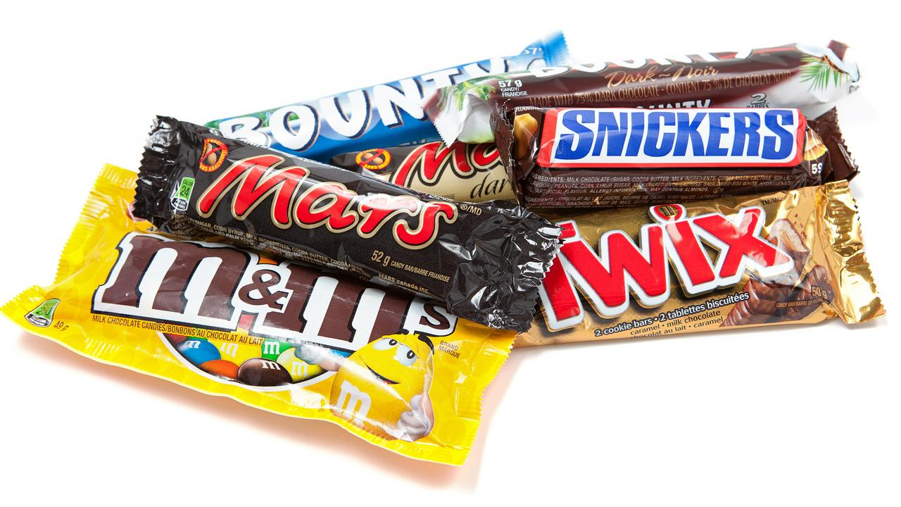 Chocolate bars — the nation's saviour.