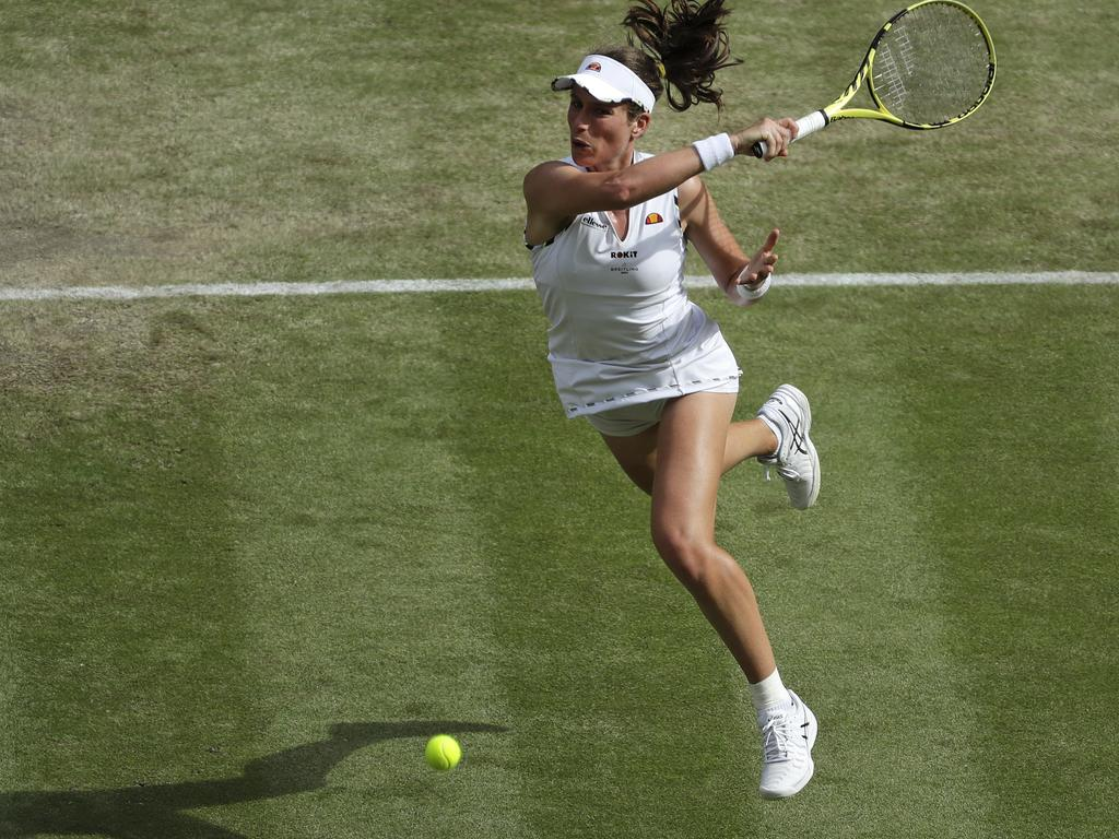 Konta will have to wait another year to chase Wimbledon glory.