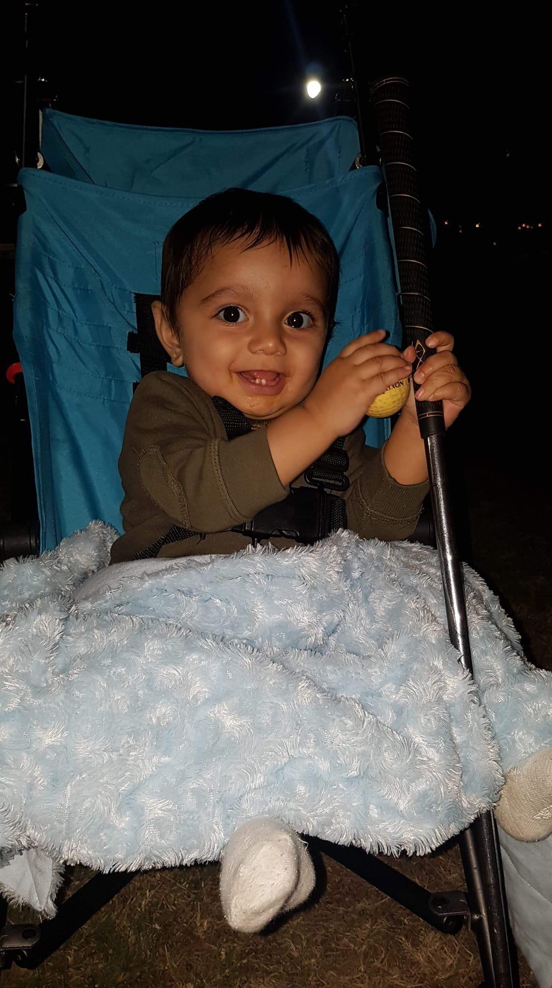 Mummy's cheeky boy Jonty Masso, nine months, such a smart boy, so clever.