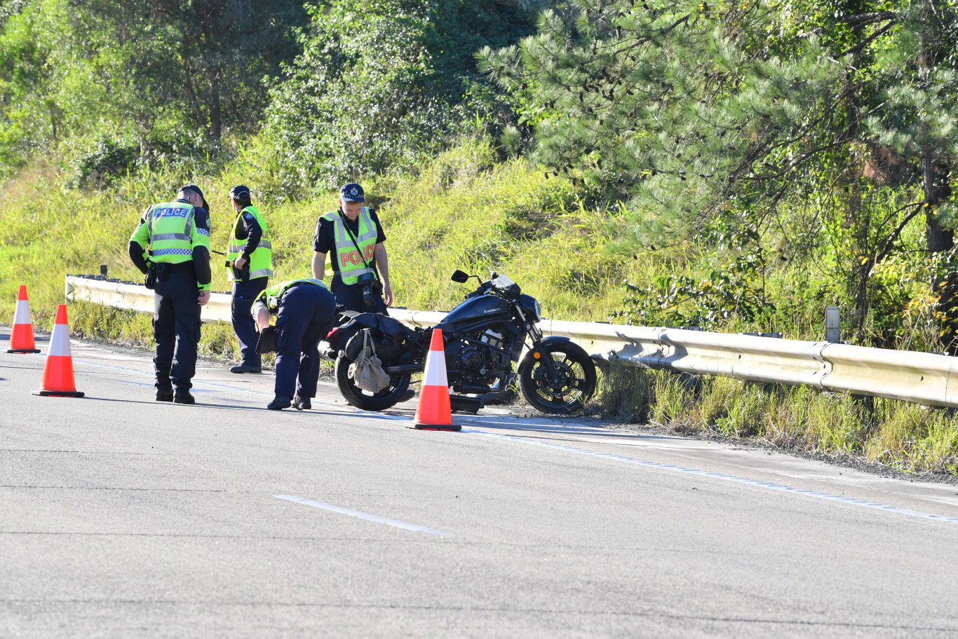 A man lost his life in a motorcycle accident on the Bruce Highway near Yandina.