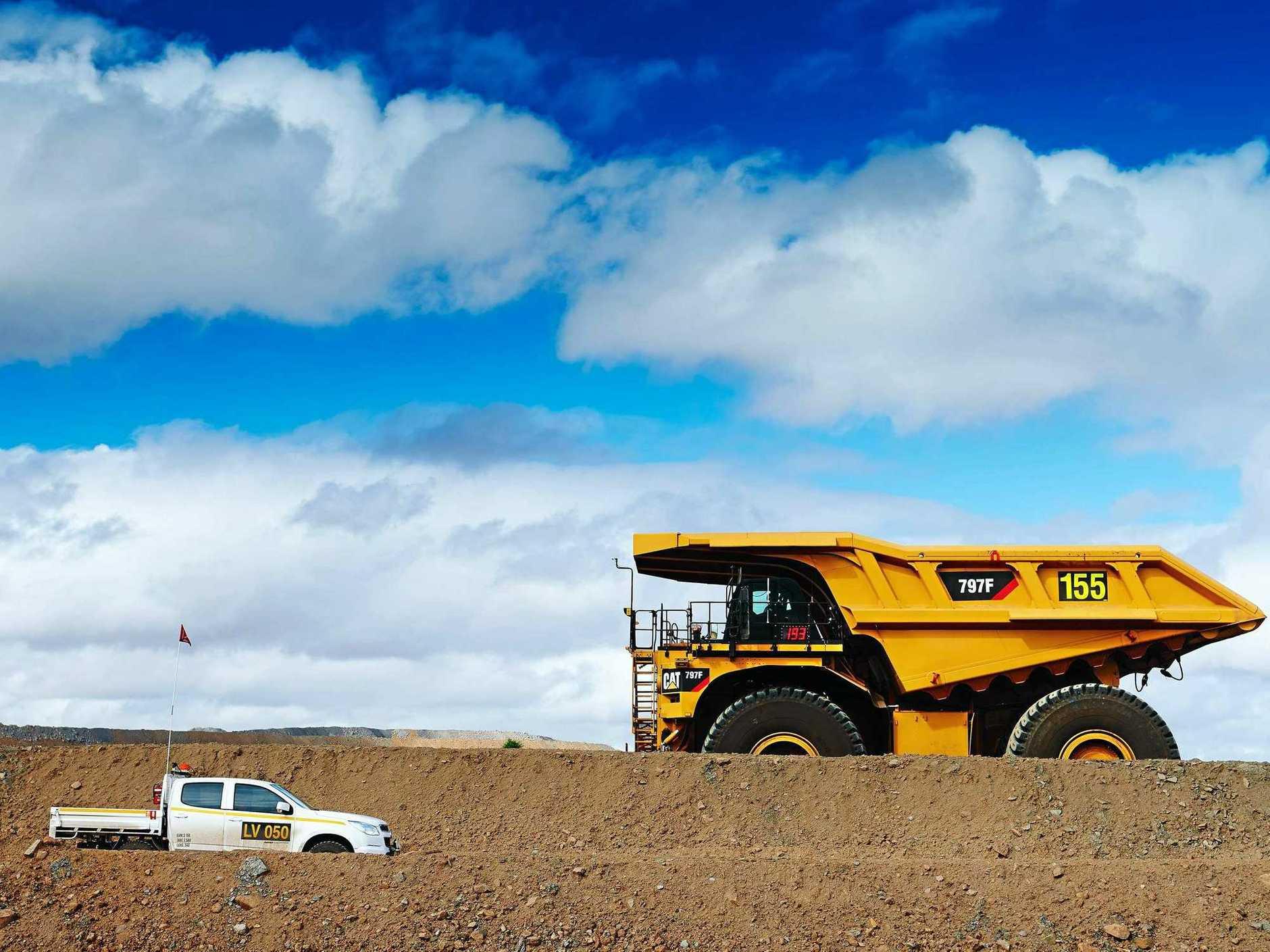 Generic mine BHP coal Daunia operations in central Queensland. Picture: BHPcoal mining coal mine