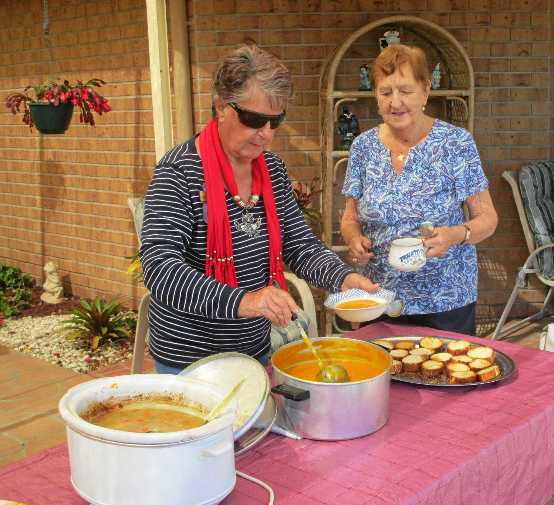 PUMPKIN SOUP KING: Geoff makes a lovely soup for Hervey Bay VIEW club members to enjoy during this cooler weather.