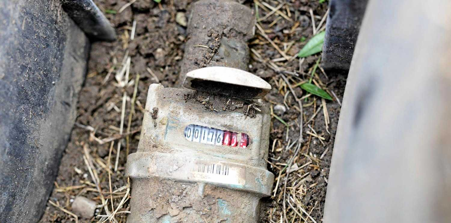 A Unitywater water meter.