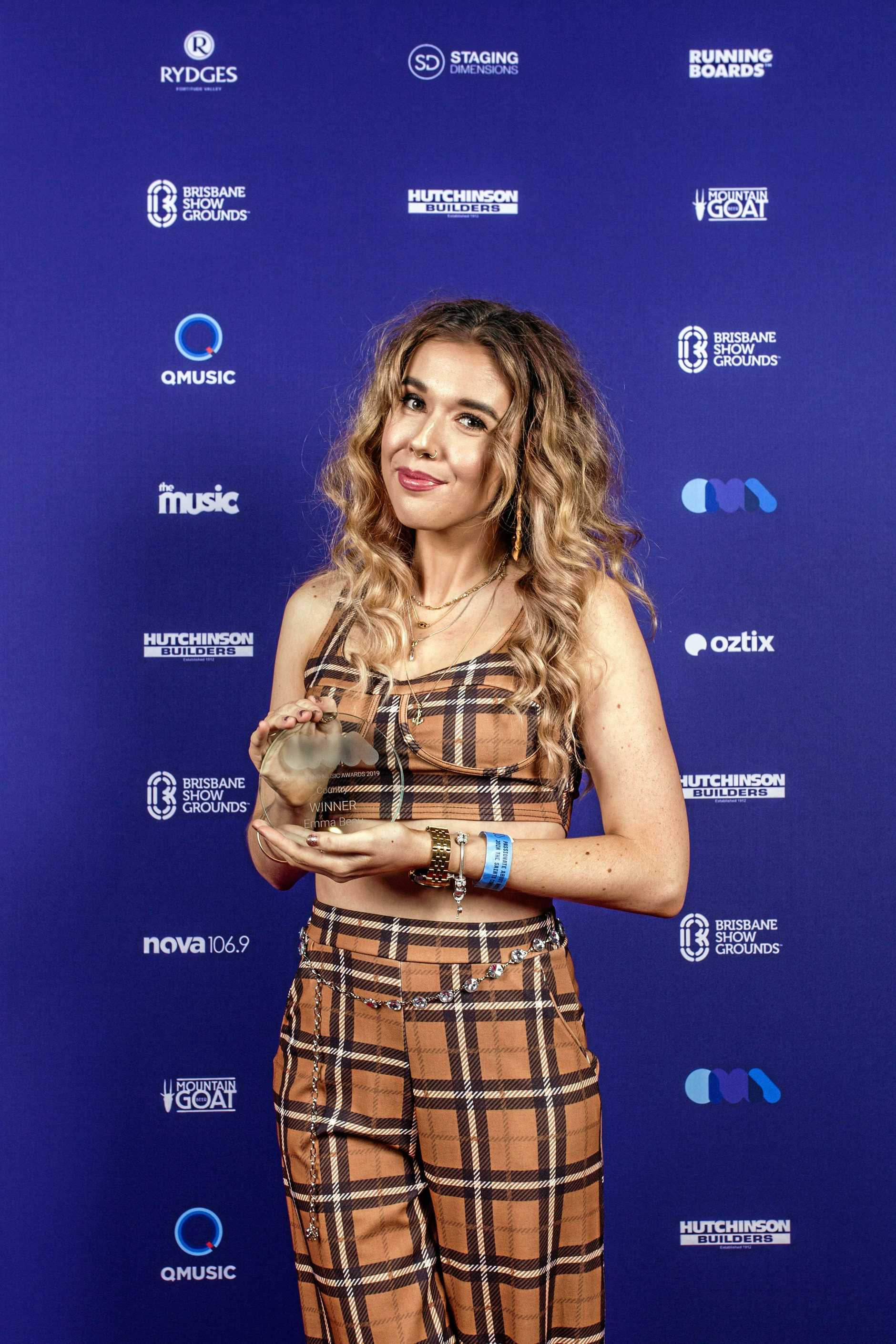 COUNTRY MUSIC WINNER: Gympie singer songwriter Emma Beau won the country music category award at the Queensland Music Awards on Tuesday.