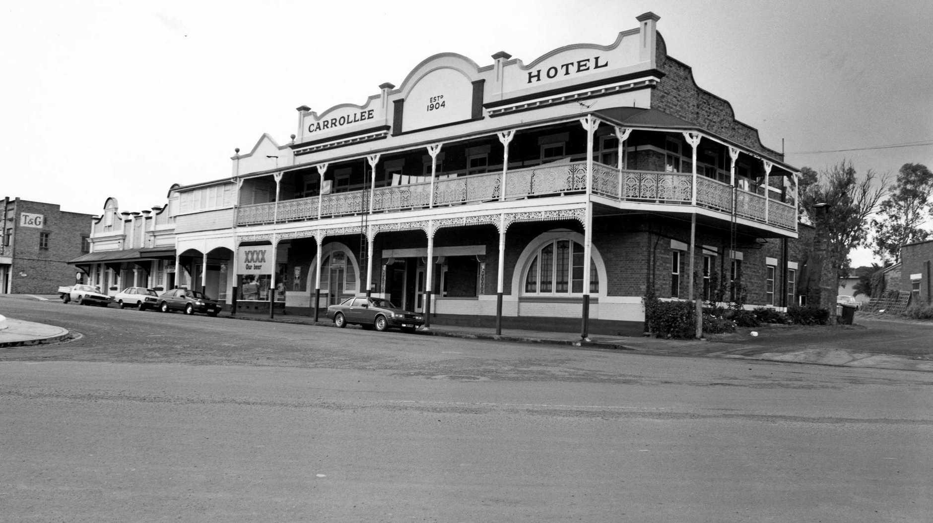 The Carrollee Hotel in Kingaroy, Queensland in 1983.