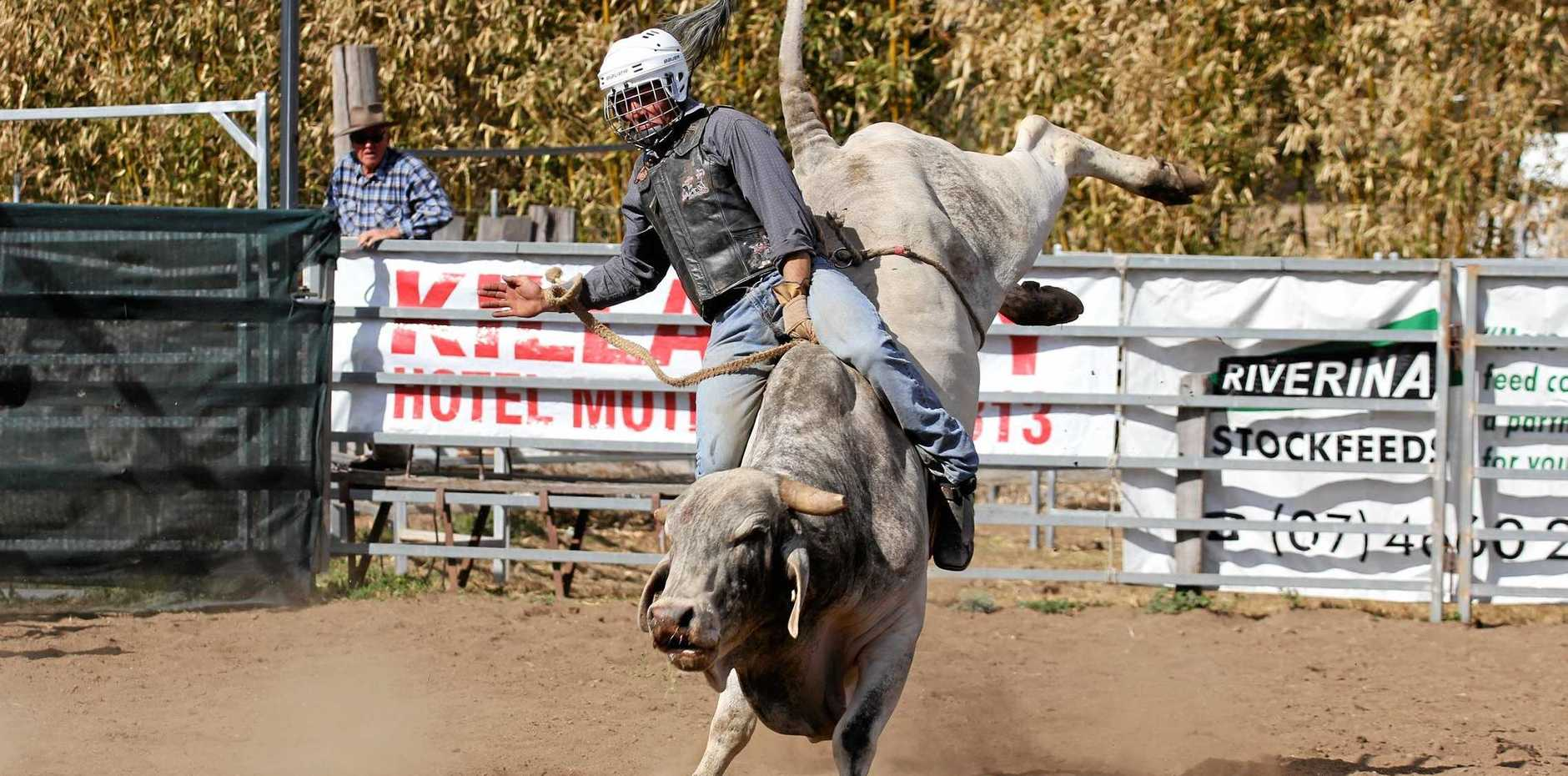 ROUGH RIDE: The Killarney Rodeo is cancelled this year after organisers found the community strapped for cash.