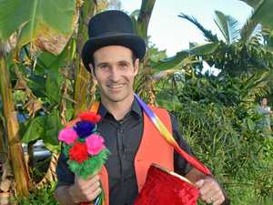 Magician shares love of farming and sleight of hand