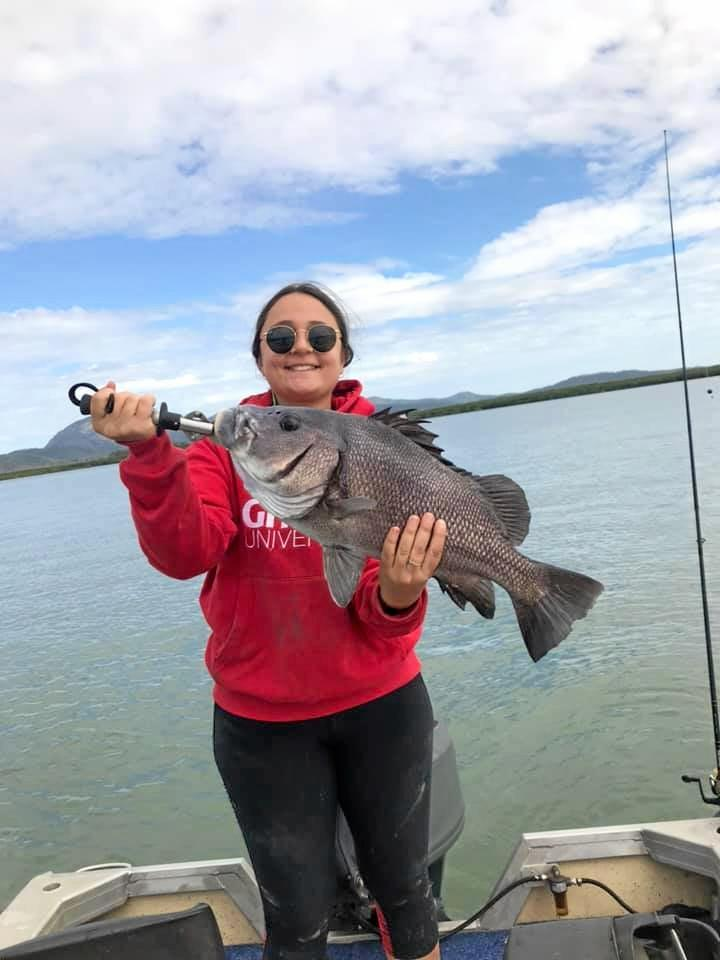 Alexandra Kakoniktis with a 4kg blubberlip bream caught at Constant Creek.