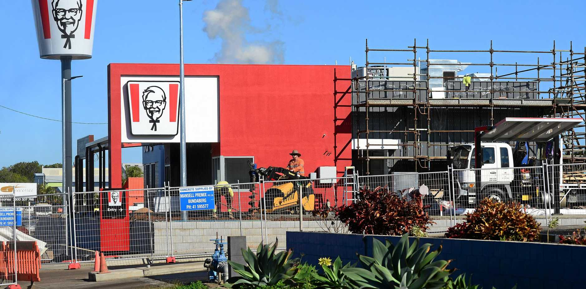 The bucket's up at the new KFC in Bargara Road.