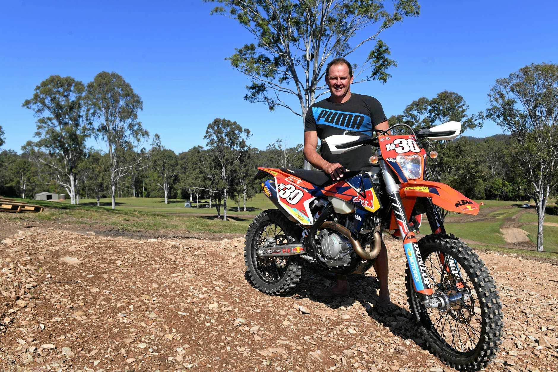 EXCITED: MX Farm Queensland co-owner Mark Bishop is ready for another big weekend this weekend.
