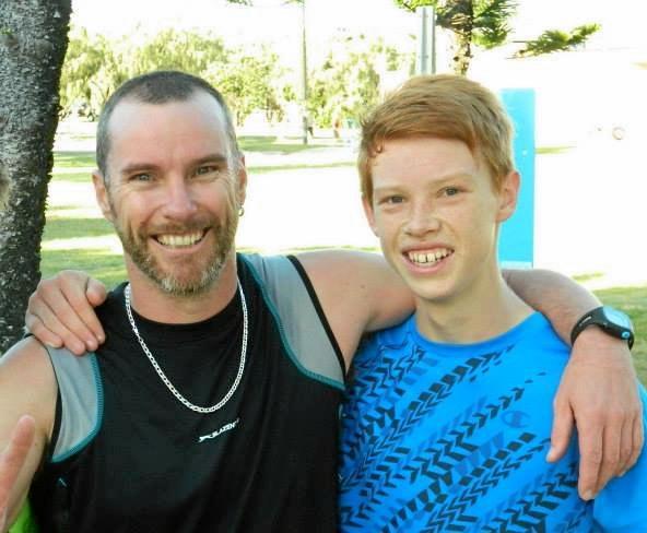 PARKRUN PALS: Cameron Pleydell and his son Bailey Pleydell at a parkrun a few years ago.