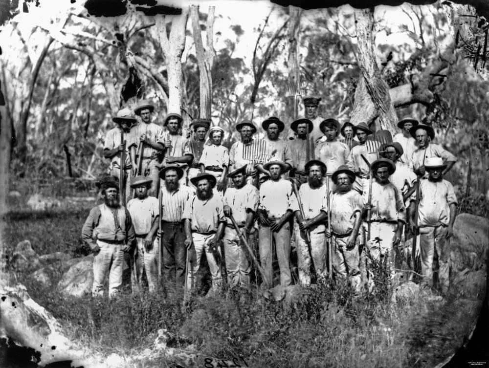 Tin miners near Stanthorpe, ca. 1872.