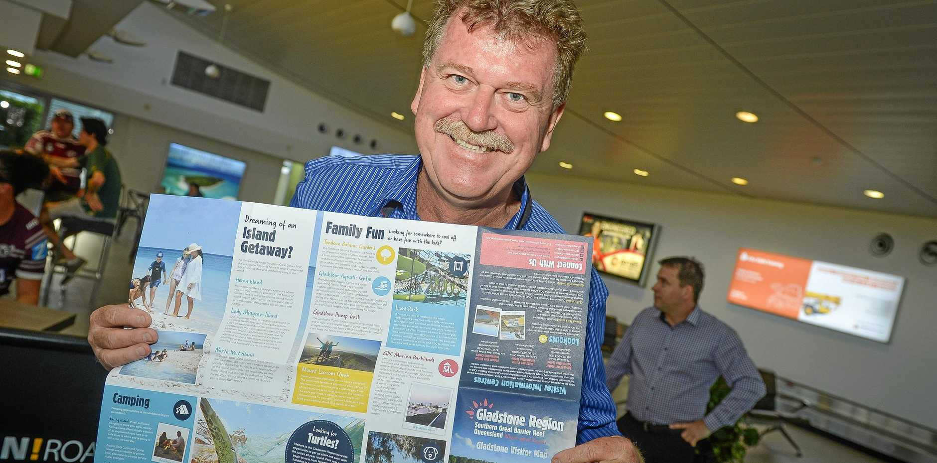GAPDL CEO Darryl Branthwaite with the new and improved Gladstone visitor map.